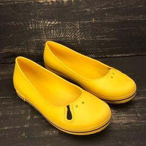Crocs Yellow Flats Size 5